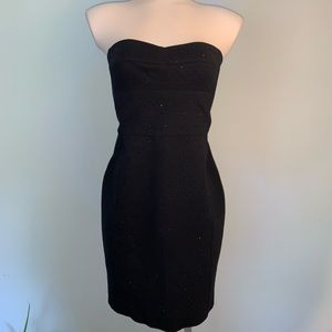 DKNY studded strapless dress